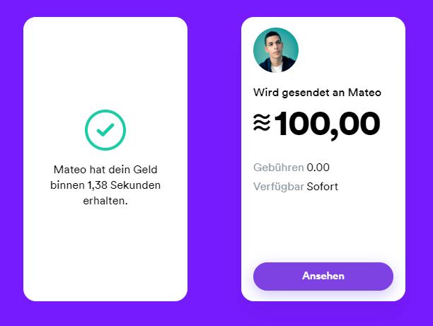 Calibra-Wallet-Transaktion
