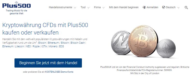 Plus500 Kryptowährung
