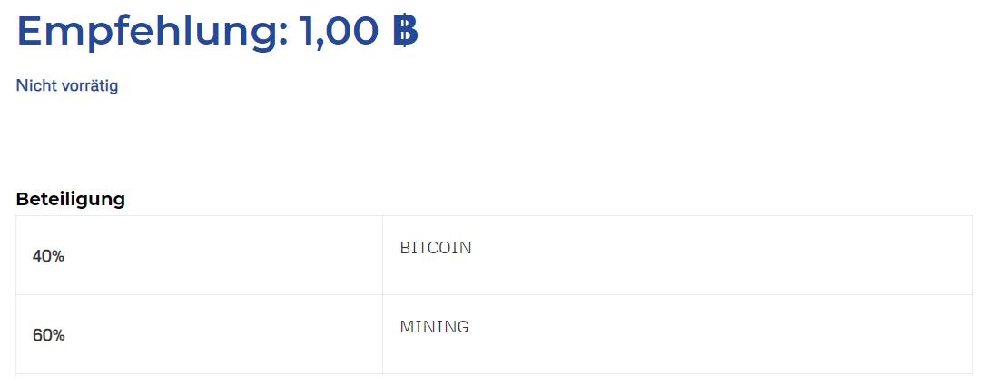 Bitcoin-Pension-Aufteilung